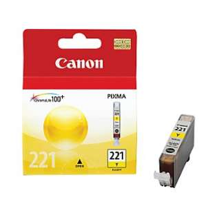 Canon CLI-221Y Genuine Original (OEM) ink cartridge, yellow
