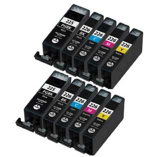 Compatible Canon CLI-226, PGI-225 ink cartridges (contains 10 cartridges)