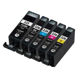 Compatible Canon CLI-226, PGI-225 ink cartridges (contains 5 cartridges)