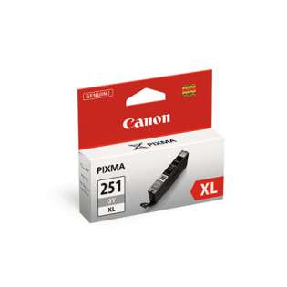 Canon CLI-251GY XL Genuine Original (OEM) ink cartridge, high yield, gray, 780 pages