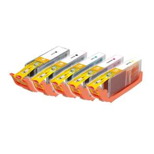 Compatible Canon CLI-251 XL, PGI-250 XL ink cartridges (contains 5 cartridges)