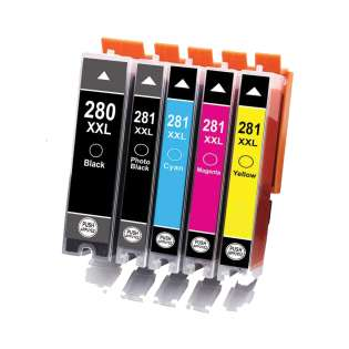 Compatible print ink cartridges Multipack for Canon CLI-281 XXL / PGI-280 XXL - 5 pack