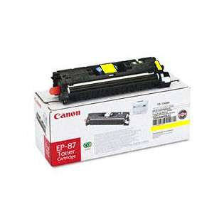 Canon EP-87 Genuine Original (OEM) laser toner cartridge, 4000 pages, yellow