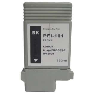 Compatible Canon PFI-101BK ink cartridge, black
