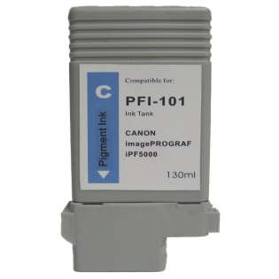 Compatible Canon PFI-101C ink cartridge, cyan