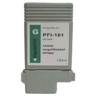 Compatible Canon PFI-101G ink cartridge, green