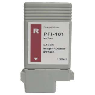 Compatible Canon PFI-101R ink cartridge, red