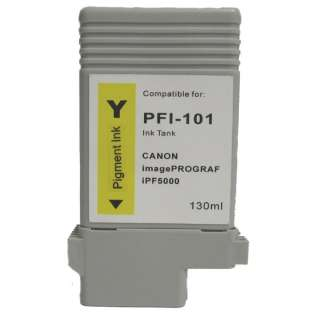 Compatible Canon PFI-101Y ink cartridge, yellow