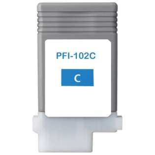 Compatible Canon PFI-102C ink cartridge, cyan