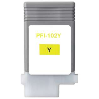 Compatible Canon PFI-102Y ink cartridge, yellow