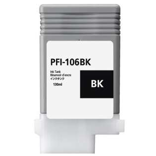 Replacement for Canon PFI-106BK - black