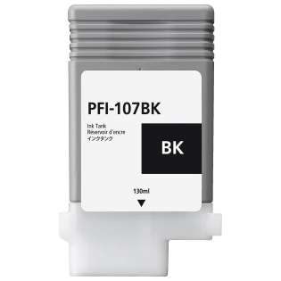 Replacement for Canon PFI-107BK - black