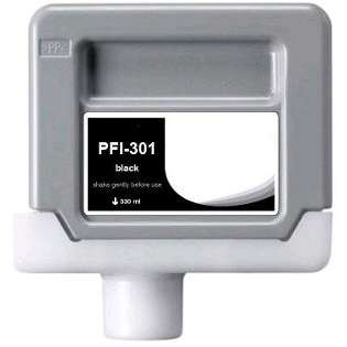 Compatible Canon PFI-301BK ink cartridge, pigment black