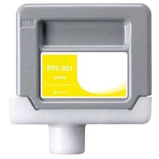 Compatible Canon PFI-301Y ink cartridge, pigment yellow