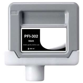 Compatible Canon PFI-302BK ink cartridge, pigment black
