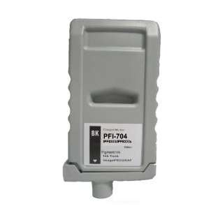 Compatible Canon PFI-704BK ink cartridge, pigment black