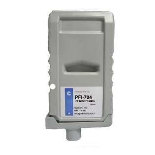 Compatible Canon PFI-704C ink cartridge, pigment cyan