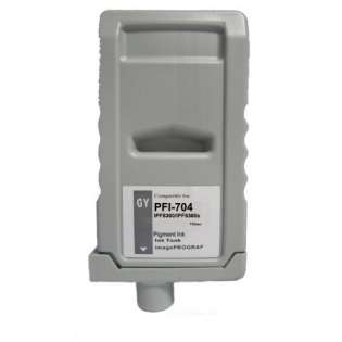 Compatible Canon PFI-704GY ink cartridge, pigment gray