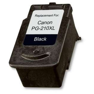 Remanufactured Canon PG-210XL ink cartridge, high capacity yield, pigment black