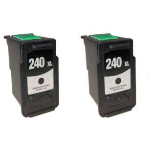 Remanufactured inkjet cartridges Multipack for Canon PG-240XL - 2 pack