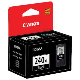 Canon PG-240XL Genuine Original (OEM) ink cartridge, high capacity yield, pigment black, 300 pages