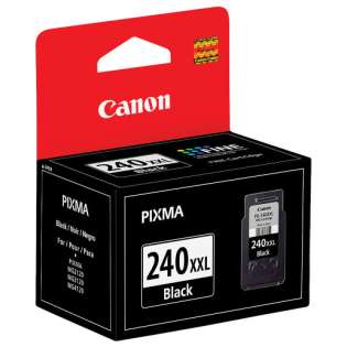Canon PG-240XXL Genuine Original (OEM) ink cartridge, extra high capacity yield, pigment black, 600 pages