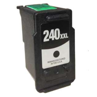 Remanufactured Canon PG-240XXL ink cartridge, high capacity yield, pigment black, 600 pages