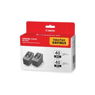 Canon PG-40 Genuine Original (OEM) ink cartridges (pack of 2)