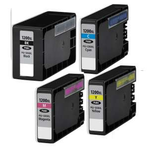 Compatible Canon PGI-1200 XL ink cartridges (pack of 4)