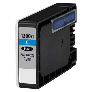 Compatible Canon PGI-1200C XL ink cartridge, high capacity yield, pigment cyan, 900 pages
