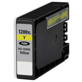 Compatible Canon PGI-1200Y XL ink cartridge, high capacity yield, pigment yellow, 900 pages