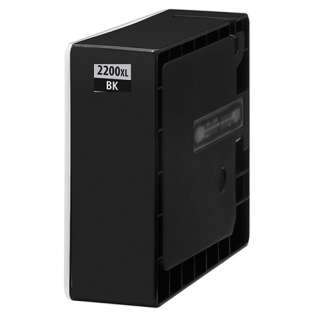 Compatible Canon PGI-2200BK XL ink cartridge, high capacity yield, pigment black, 2500 pages