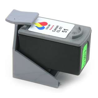 Remanufactured Canon CL-51 ink cartridge, color