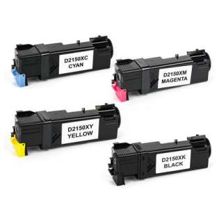 Remanufactured Dell 2150, 2155 toner cartridges (pack of 4)