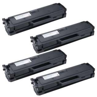 Remanufactured Dell 331-7328 (DRYXV/RWXNT) toner cartridge - high capacity black - Pack of 4