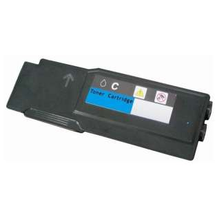 Remanufactured Dell C3760, C3765 toner cartridge, 9000 pages, cyan