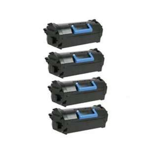 Remanufactured Dell 331-9756 (X5GDJ) toner cartridges - high capacity black - (pack of 4)
