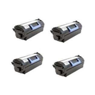 Remanufactured Dell 332-0131 (03YNJ) toner cartridges - ultra high capacity black - (pack of 4)
