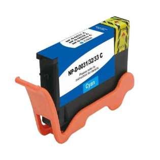 Compatible inkjet cartridge for Dell 8DNKH (Series 33) - extra high capacity cyan