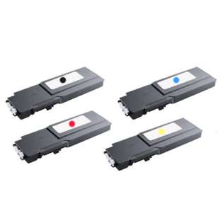 Remanufactured Dell C3760, C3765 toner cartridges (pack of 4)