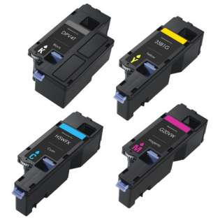 Remanufactured Dell 593-BBJX / 593-BBJU / 593-BBJV / 593-BBJW toner cartridges - (pack of 4)