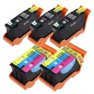 Compatible Dell Series 24 ink cartridges, high capacity yield, 5 pack