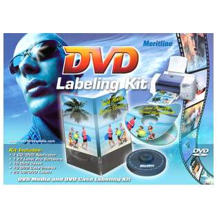 DVD Labeling Kit, DVD Media and DVD Case Label Kit