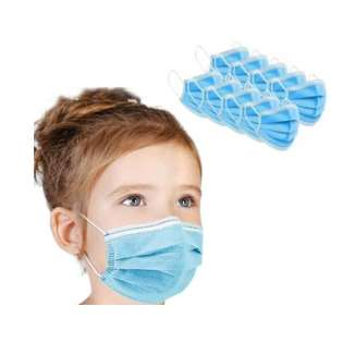 WHOLESALE PRICED Disposable Protective Face Masks KIDS SIZE, 3-Ply Earloop, 50 Pack - Minimum 4 pack purchase required