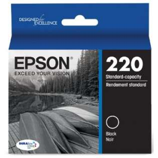 Epson 220, T220120 Genuine Original (OEM) ink cartridge, black, 175 pages