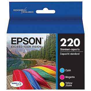 Epson 220 Genuine Original (OEM) ink cartridges, T220520 (pack of 3)