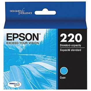 Epson 220, T220220 Genuine Original (OEM) ink cartridge, cyan, 165 pages