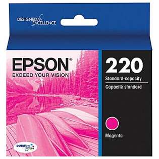 Epson 220, T220320 Genuine Original (OEM) ink cartridge, magenta, 165 pages