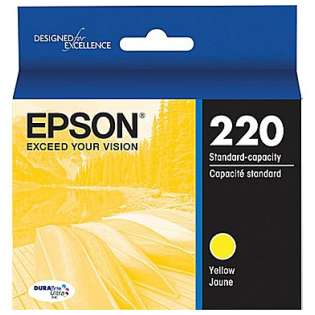 Epson 220, T220420 Genuine Original (OEM) ink cartridge, yellow, 165 pages
