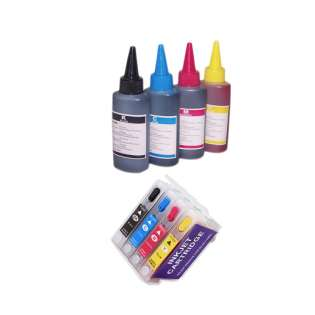 Continuous Ink Cartridge (CIC) Set for Epson T252XL (Bk/CMY) - with Auto reset Chips and with Ink - 40 Refills Included